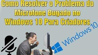 microfone do headset não funciona no windows 10