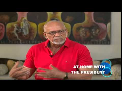 AT HOME WITH THE PRESIDENT: President outlines his plans for Guyana's youth to several young people