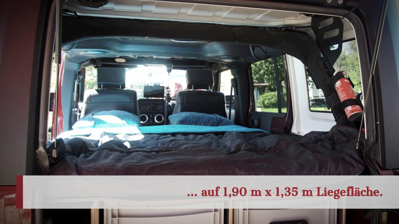 Innenausbau Jeep Wrangler & Innenausbau Jeep Wrangler - YouTube