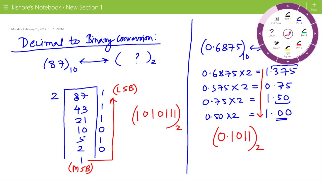 Lecture On Decimal To Binary Conversion