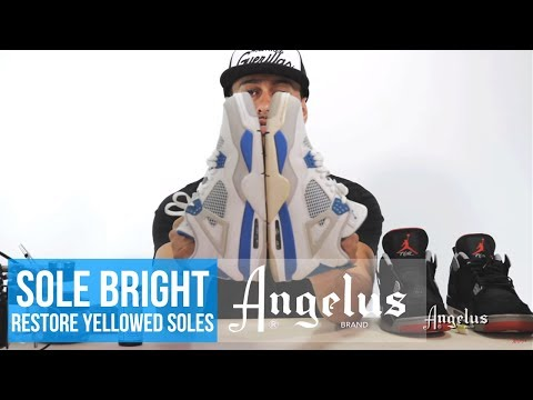 Restore Yellowed Soles | Angelus Sole Bright & Easy Cleaner Kit