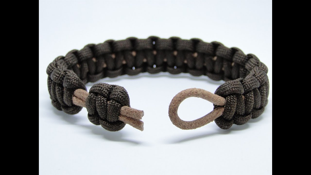 How To Make A Paracord Leather Cord Bracelet Cobra Weave Cbys Closure System