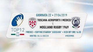 TOP12 2018/19, Giornata 22 - Toscana Aeroporti I Medicei v Mogliano Rugby 1969
