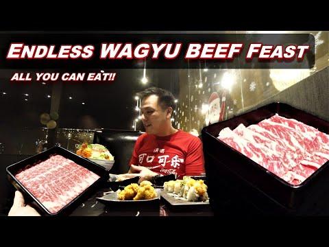 Trying an Endless Wagyu Beef Feast   All You Can Eat Wagyu Hot Pot @ Shin Ka Gyuu