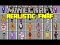 Minecraft REALISTIC FIVE NIGHTS AT FREDDY'S MOD! | SURVIVE REAL LIFE ANIMATRONICS | Modded Mini-Game