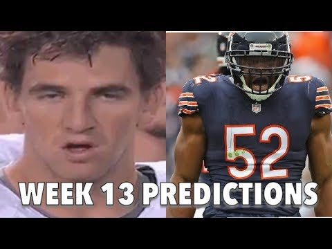 BEARS VS GIANTS WEEK 13 PREDICTIONS
