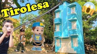 Boneco do Luccas Neto! Na tirolesa | Ben 10 | Detetives do prédio azul | DPA 2 filme | DPA | dpa 3
