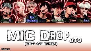 BTS - MIC Drop (Steve Aoki REMIX) | Sub (Han - Rom Español) Color Coded Letra