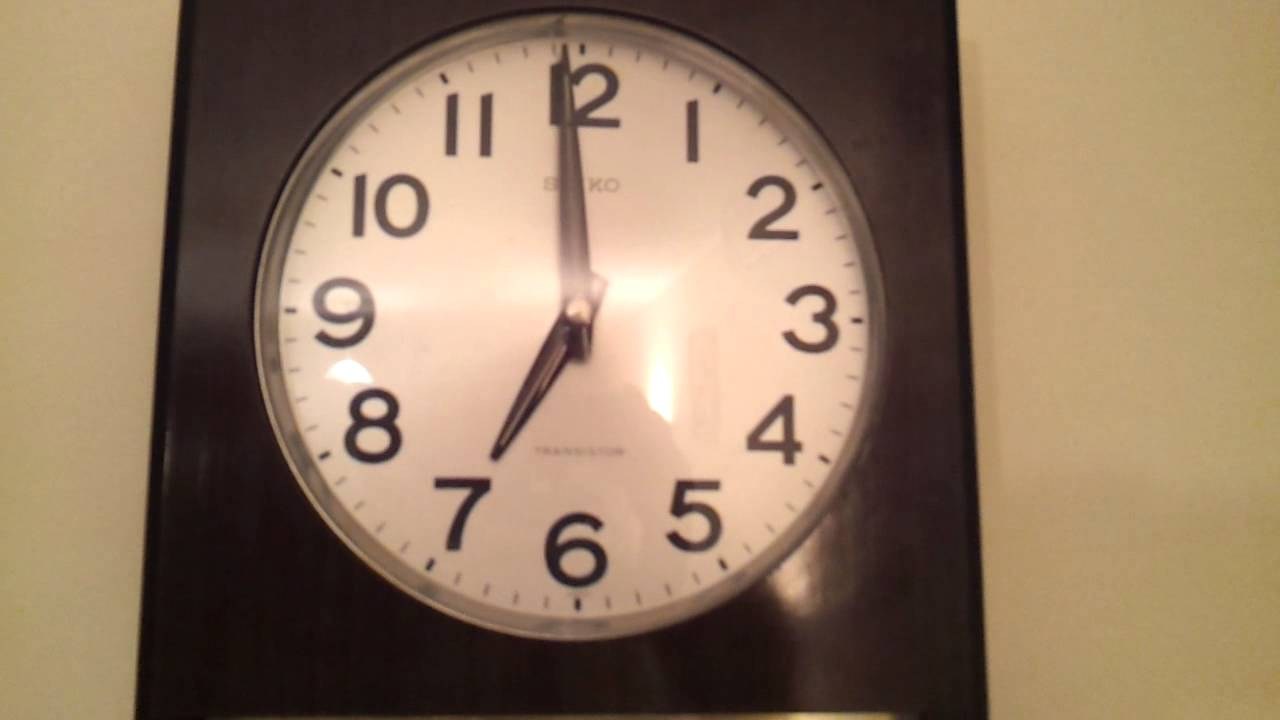 Seiko Transistor Vintage Wall Clock Youtube