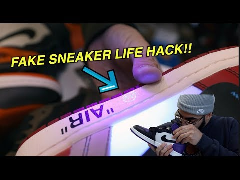 FAKE SNEAKER LIFE HACK! *HOW TO SPOT FAKES*
