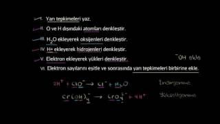 Bazik Ortamda Gerçekleşen Redoks Tepkimelerinin Denkleştirilmesi (Kimya)