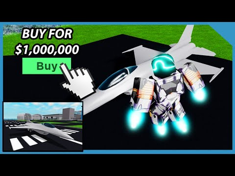 Buying the Falcon Bomber Jet in Roblox Mad City ($1,000,000