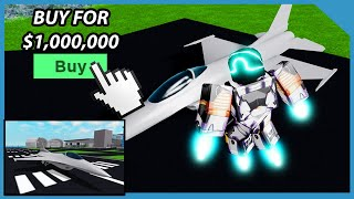 Buying the Falcon Bomber Jet in Roblox Mad City ($1,000,000 Plane)
