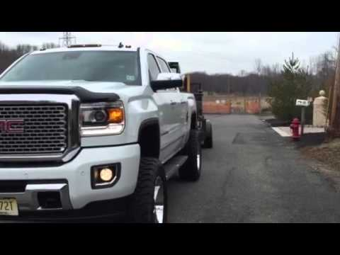 2015 GMC Sierra HD 2500 Pulling trailer and CASE bob cat ...