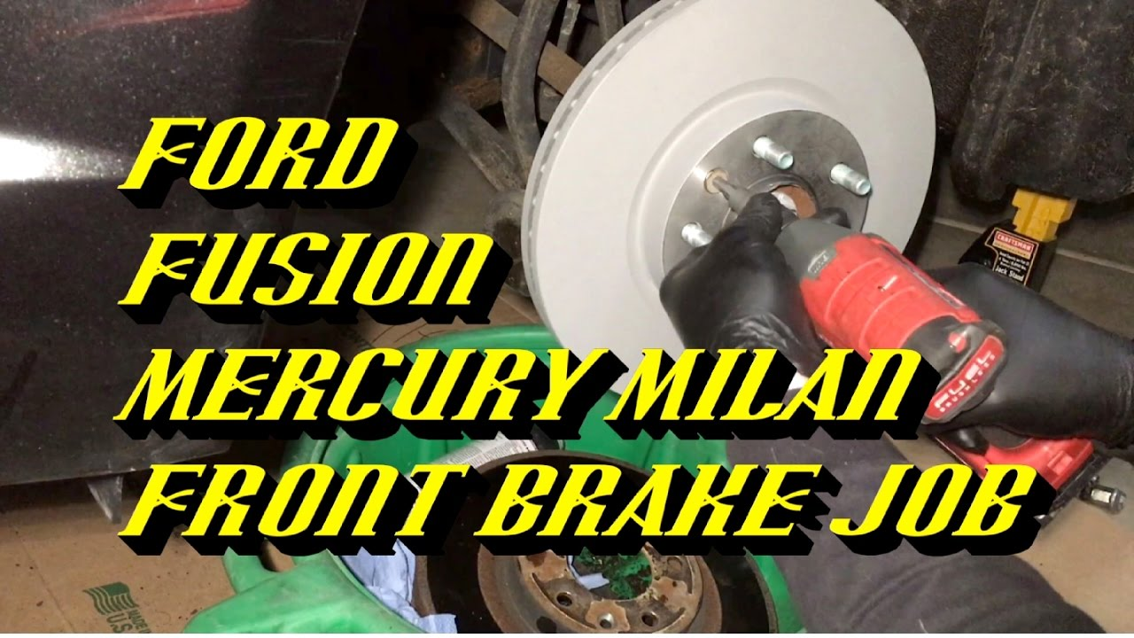2006 2017 Ford Fusion Front Pads And Rotors Replacement