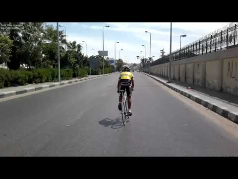 The way back after the race in the city of Suez
