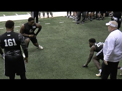 U.S. Army Combine: Best of OL vs. DL drills