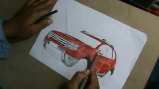 Drawing Duster Car
