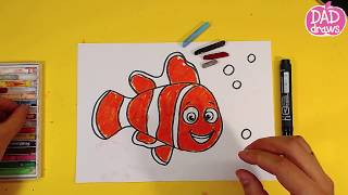 How to draw a fish Nemo