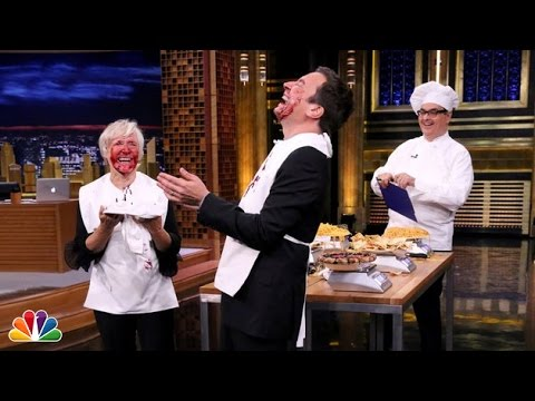 Glenn Close And Jimmy Fallon Went All Out In This Face Stuffing Contest