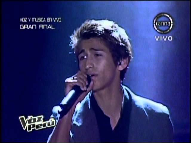 Daniel Lazo - Tema 2 AMOR AMOR en la FINAL DE LA VOZ PERU