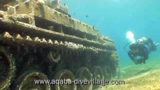 aqaba jordan scuba dive red sea wreck tank http://www.la-video-sous-marine.com/