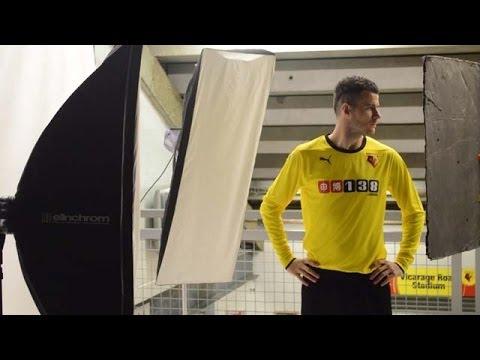 9d47db44613 BEHIND THE SCENES  Watford FC 2014 15 Kit Photo Shoot - YouTube