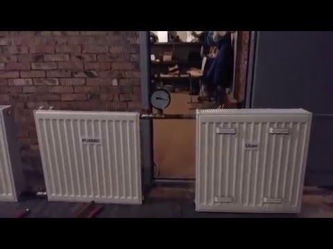 Испытание стальных панельных радиаторов