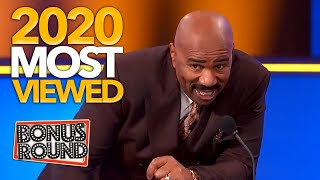 MOST VIEWED FAMILY FEUD / Steve Harvey MOMENTS in 2020!