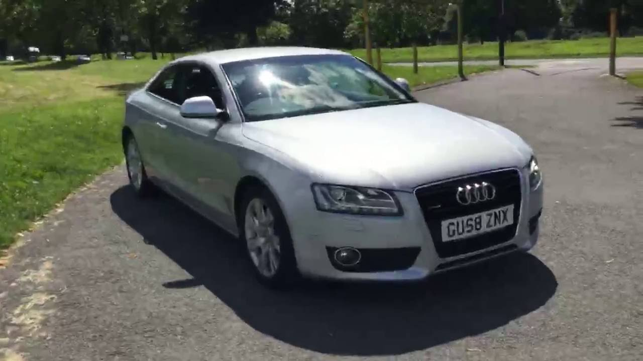 silver audi a5 3 0 tdi turbo diesel 240 bhp tiptronic auto 2 door coupe mccarthy cars uk gu58znx. Black Bedroom Furniture Sets. Home Design Ideas
