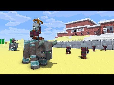 THE PILLAGER IS RAIDING MONSTER SCHOOL - Minecraft Animation