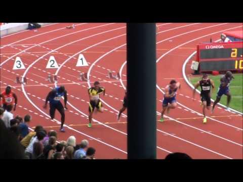Finale 100m Championnats Suisses Hommes