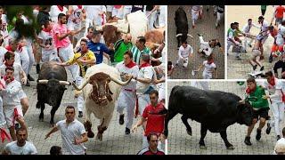 RUNNING OF THE BULLS FESTIVAL KICKS OFF SAN FERMIN PAMPLONA SPAIN