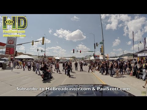Drive Through Sturgis Motorcycle Rally 2015 With Gopro
