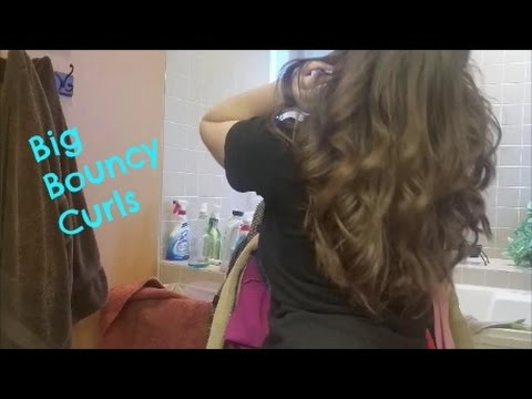 big bouncy curls medium to short hair youtube