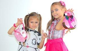 Julia and Elina dress up and do makeup for kids
