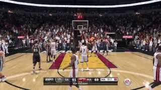 NBA 2015 - San Antonio Spurs vs Miami Heat - 4th Qrt - NBA LIVE 15 PS4 - HD