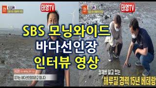 SBS 모닝와이드 바다선인장 인터뷰 영상 - 대부도 해루질 [태영TV]