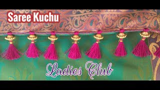 Saree Tassels I Saree Kuchu making using Beads I Latest Kucchu Designs I Gonde designs