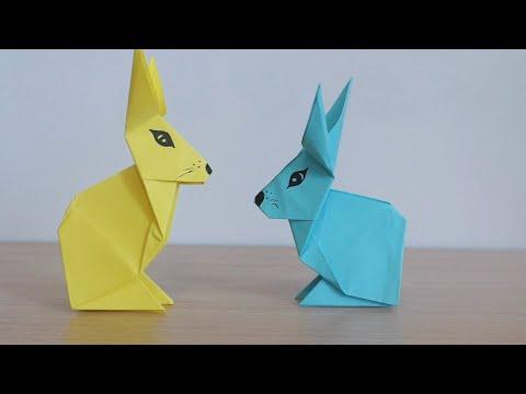 Зайчик Из Бумаги Пасхальная поделка Оригами 🐰