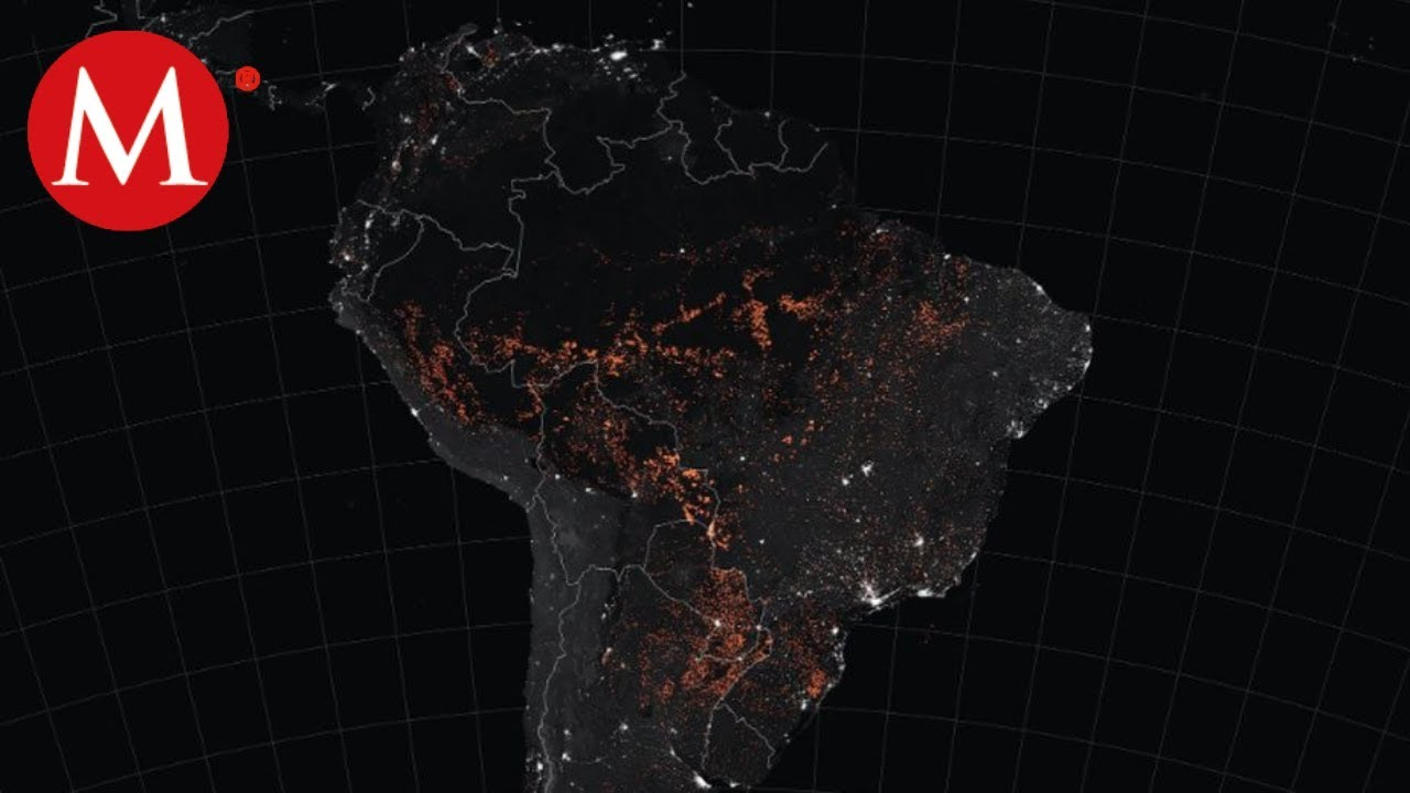 Nasa Mapa De Incendios.La Nasa Muestra Mapa De Los Incendios En La Amazonia