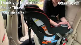 How to install: Graco Extend-2-Fit REAR Facing with LATCH