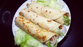Chicken Garlic Mayo Paratha Roll Recipe with Homemade Garlic Mayonnaise Recipe