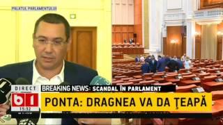 DECLARATII VICTOR PONTA: DRAGNEA V-A DAT TEAPA