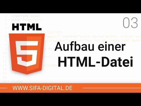 HTML Grundkurs: Aufbau Einer HTML-Datei #03 (4K)   SIFA Digital