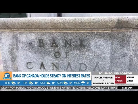 Bank Of Canada Holds Steady On Interest Rates