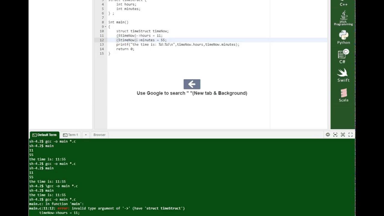 C language structs part 1 (for John)
