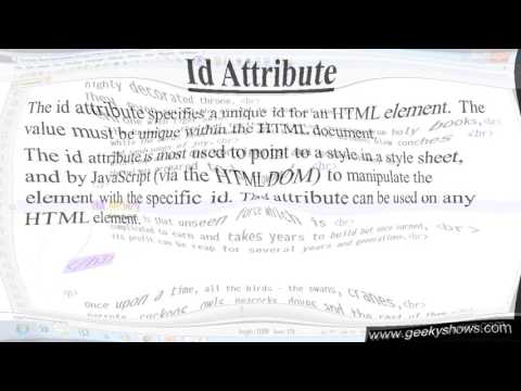 61. Id Attribute In HTML (Hindi)