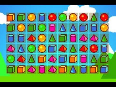 Kết nối những hình học giống nhau, game kết nối hình học rèn tinh mắt | Hình học nhiều màu