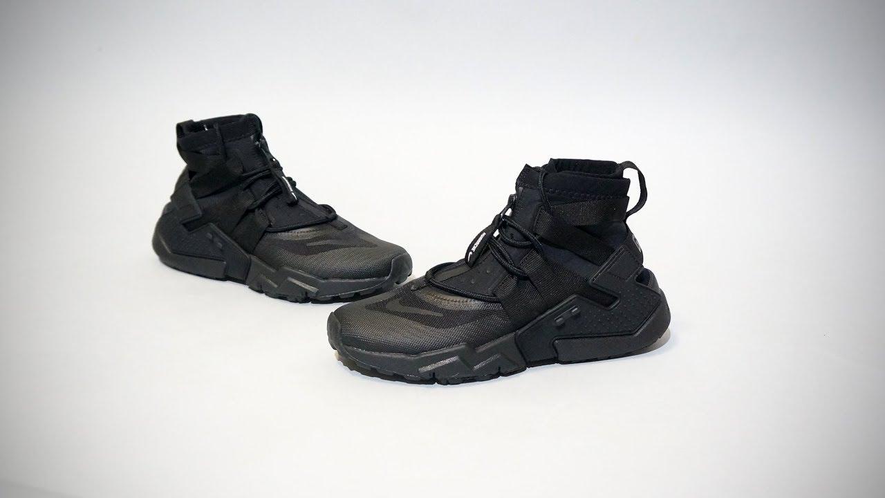 f565414fbabe4 Nike Air Huarache Gripp Black AO1730-002 - YouTube